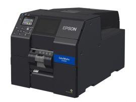 Epson ColorWorks CW-C6000Ae (mk), cutter, disp., USB, Ethernet, black-C31CH76102MK