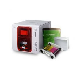 Evolis Zenius Classic GO PACK, unilateral, 12 puntos/mm (300dpi), USB, rojo